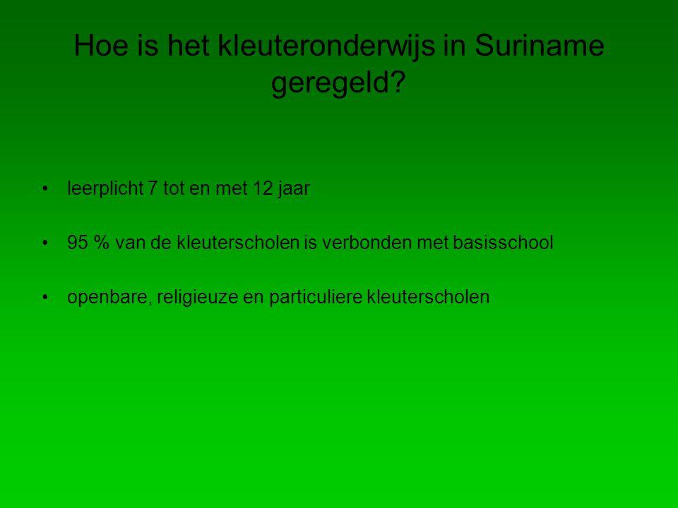 Hoe is het kleuteronderwijs in Suriname geregeld
