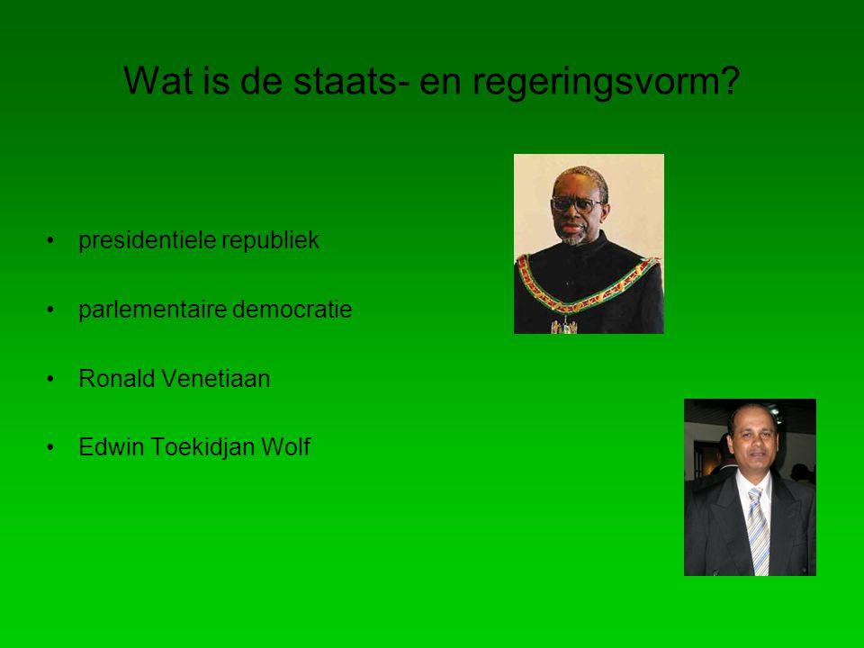 Wat is de staats- en regeringsvorm