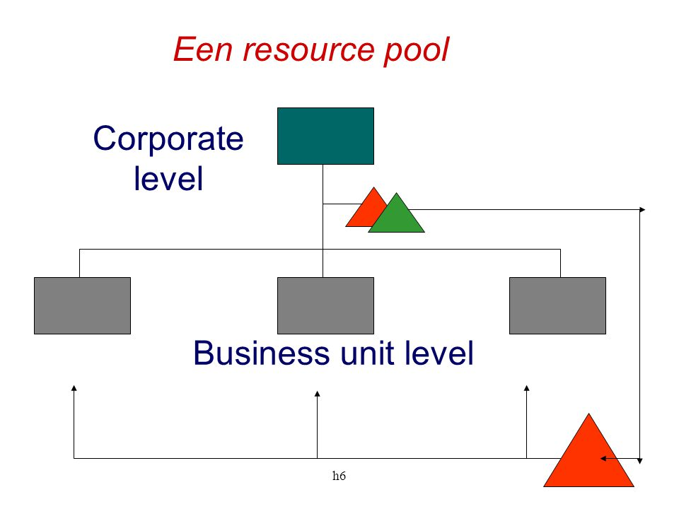 Een resource pool Corporate level Business unit level h6