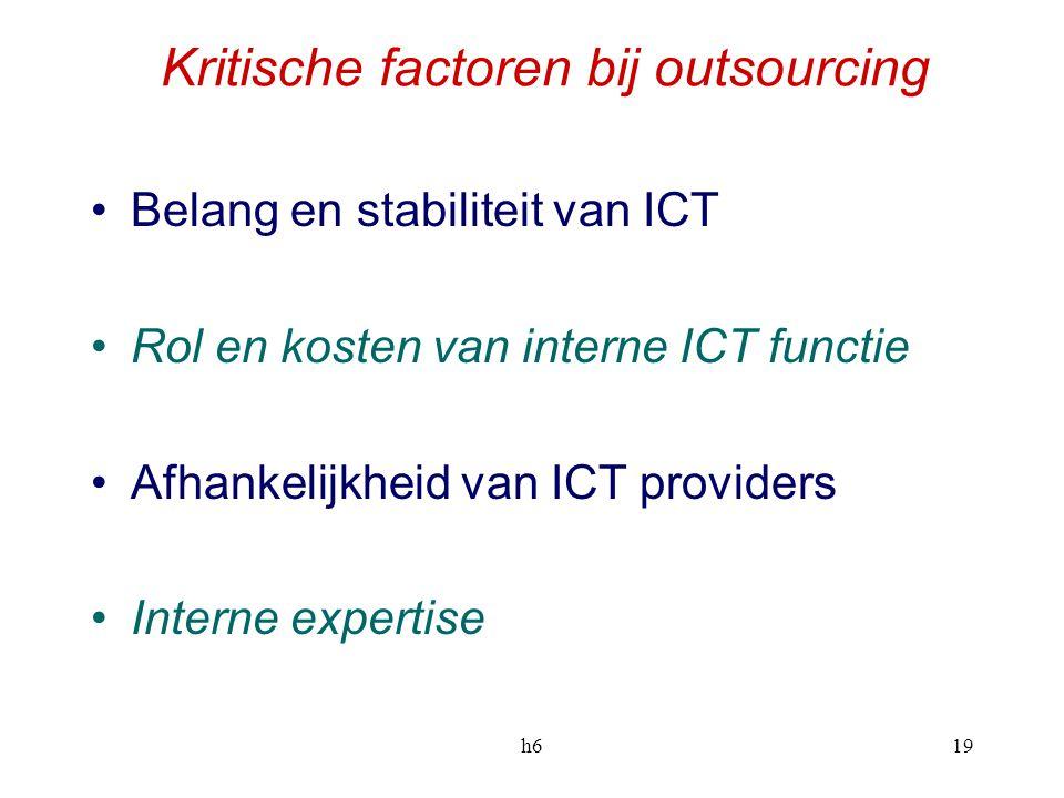 Kritische factoren bij outsourcing
