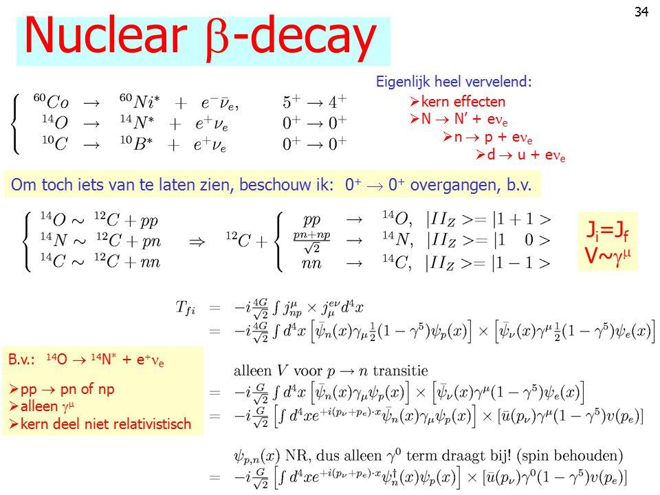 Nuclear -decay Ji=Jf V~