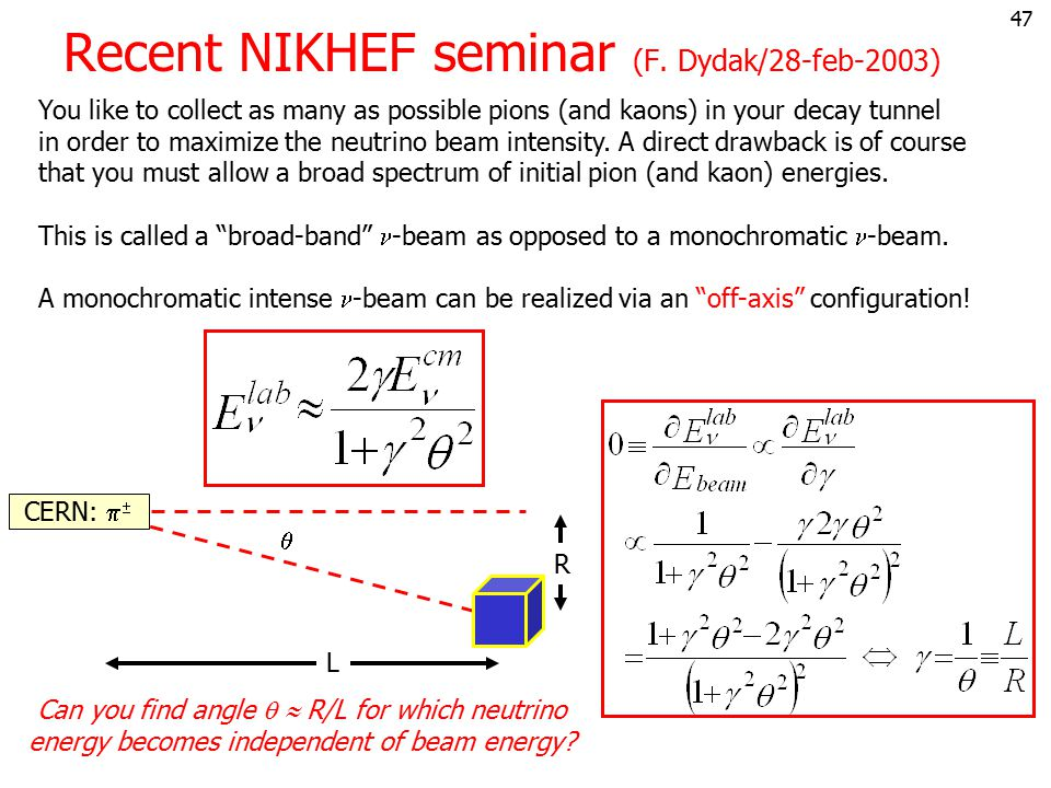 Recent NIKHEF seminar (F. Dydak/28-feb-2003)