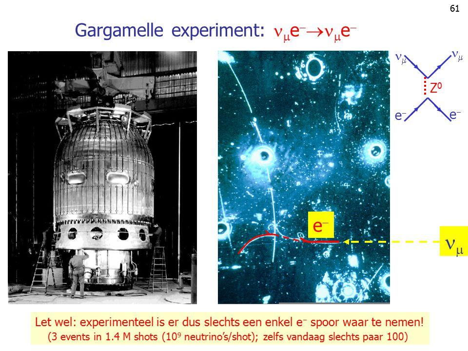 Gargamelle experiment: ee