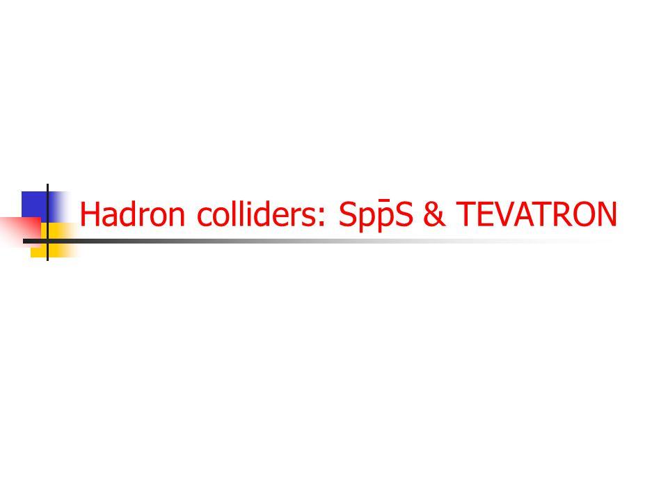 Hadron colliders: SppS & TEVATRON