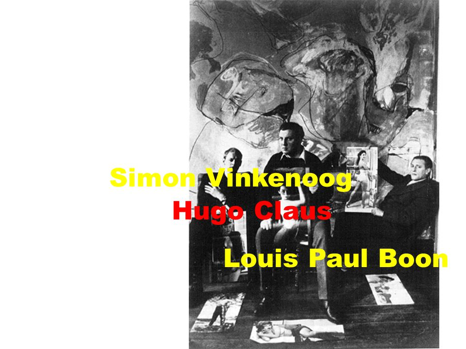 Simon Vinkenoog Hugo Claus Louis Paul Boon