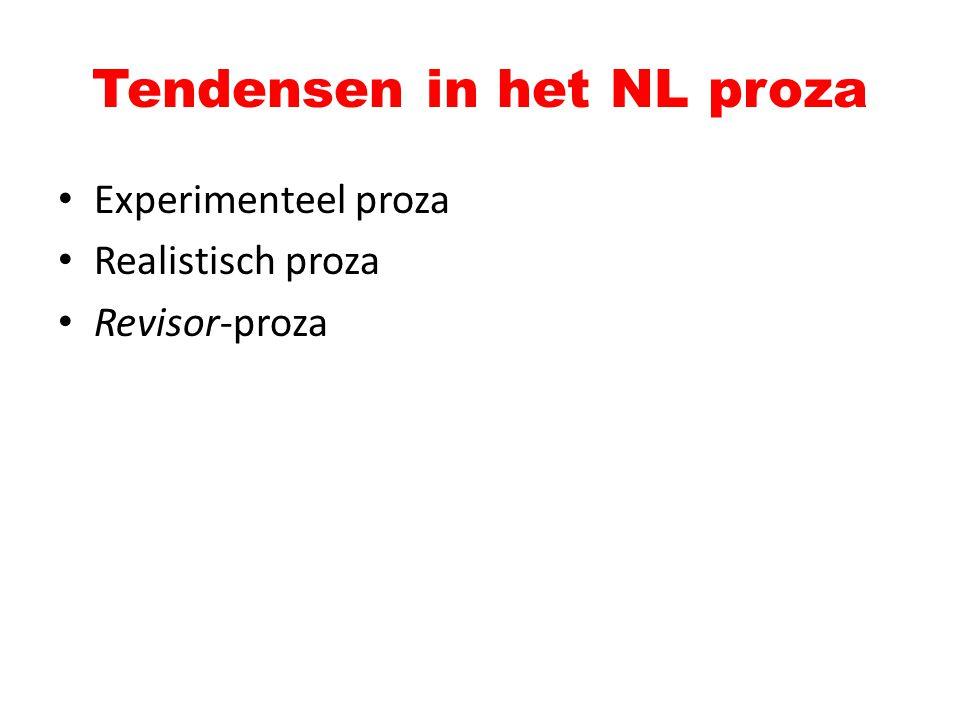 Tendensen in het NL proza