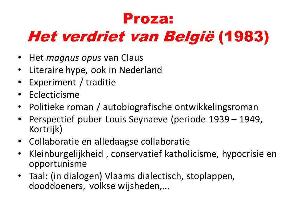 Proza: Het verdriet van België (1983)