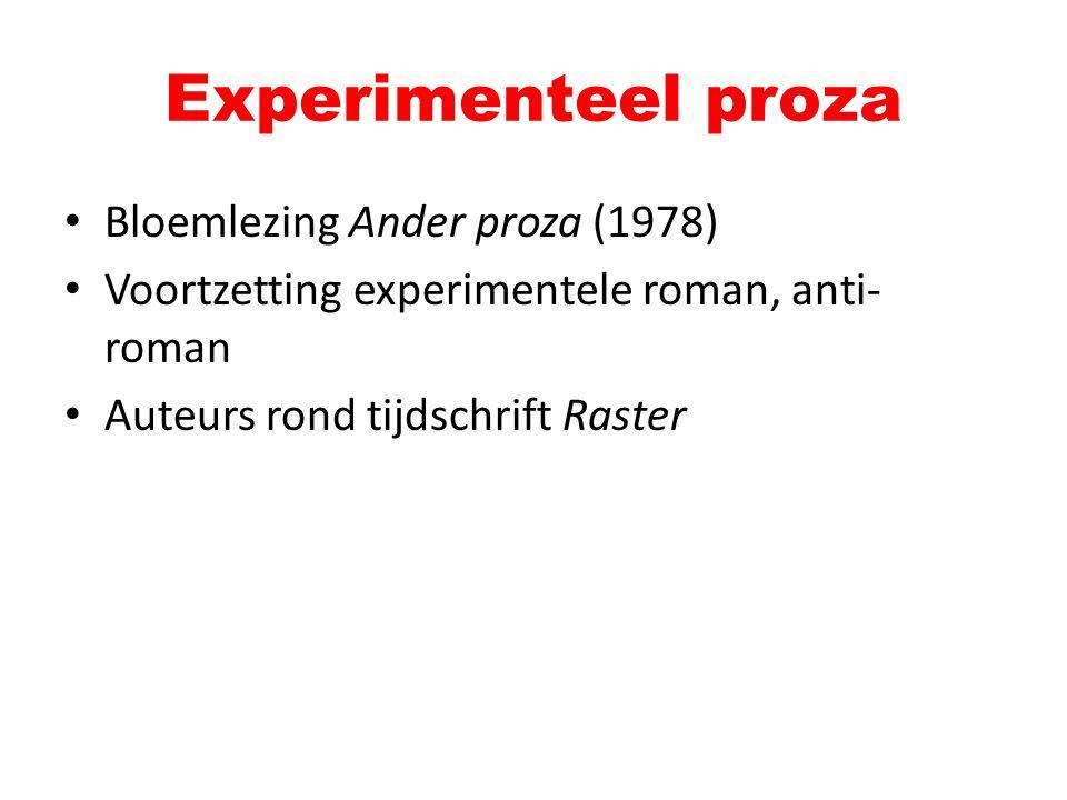Experimenteel proza Bloemlezing Ander proza (1978)