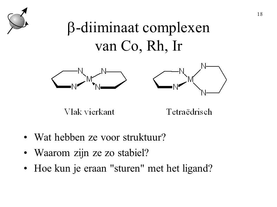 b-diiminaat complexen van Co, Rh, Ir