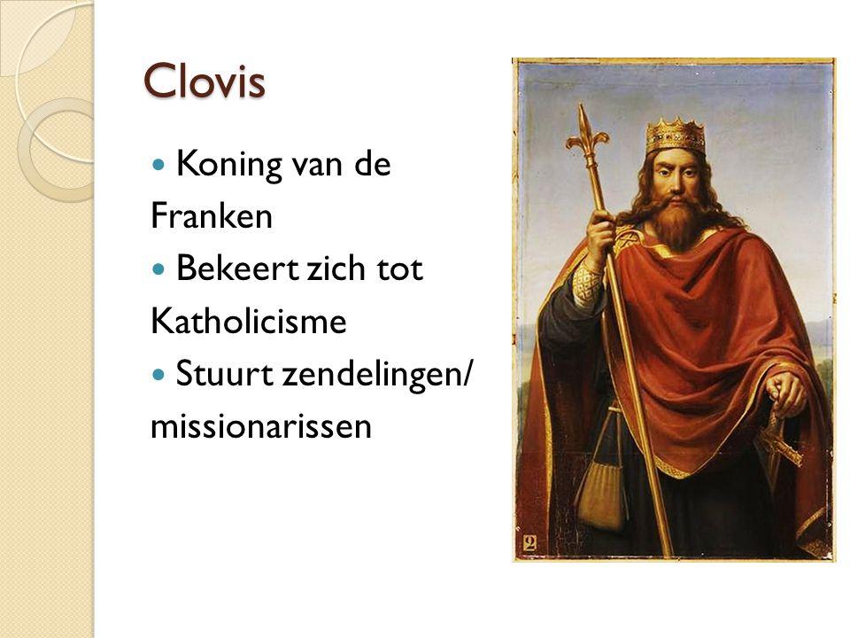 Clovis Koning van de Franken Bekeert zich tot Katholicisme
