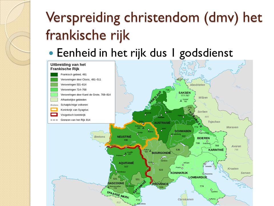 Verspreiding christendom (dmv) het frankische rijk