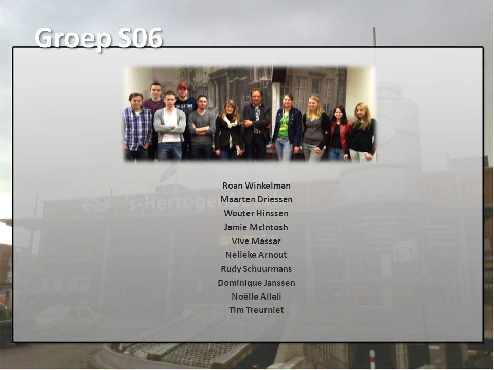 Groep S06 Roan Winkelman Maarten Driessen Wouter Hinssen