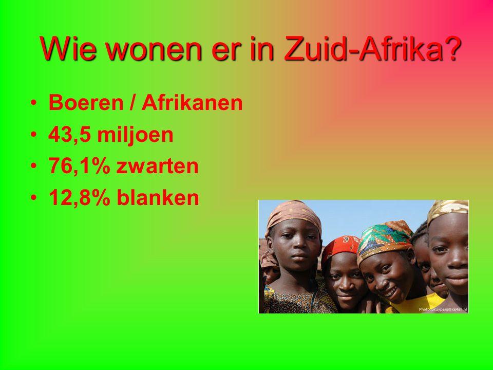 Wie wonen er in Zuid-Afrika