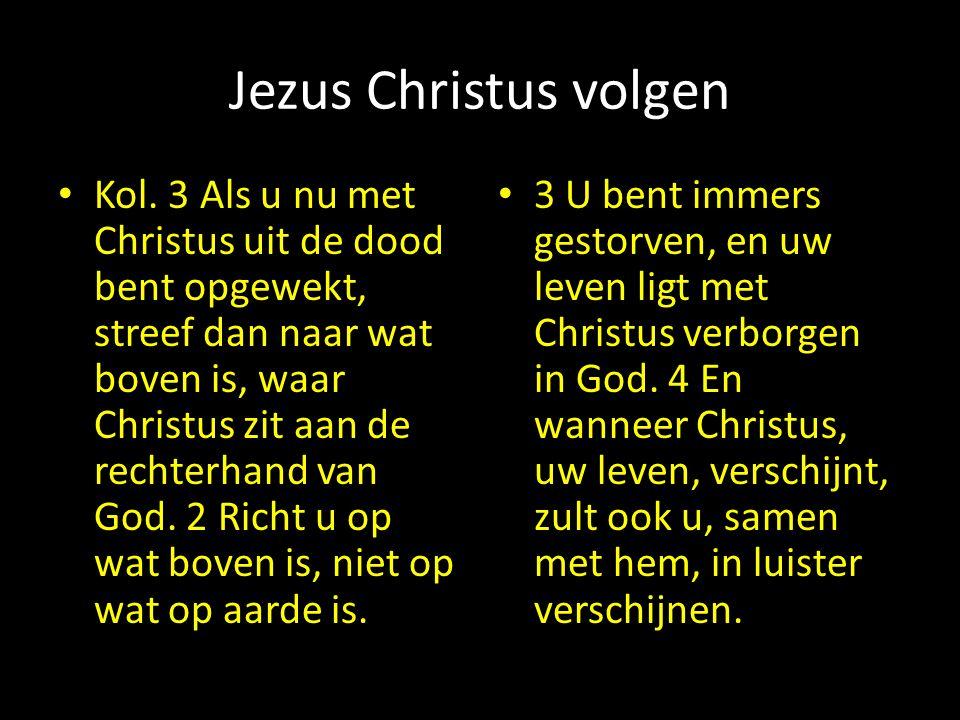 Jezus Christus volgen