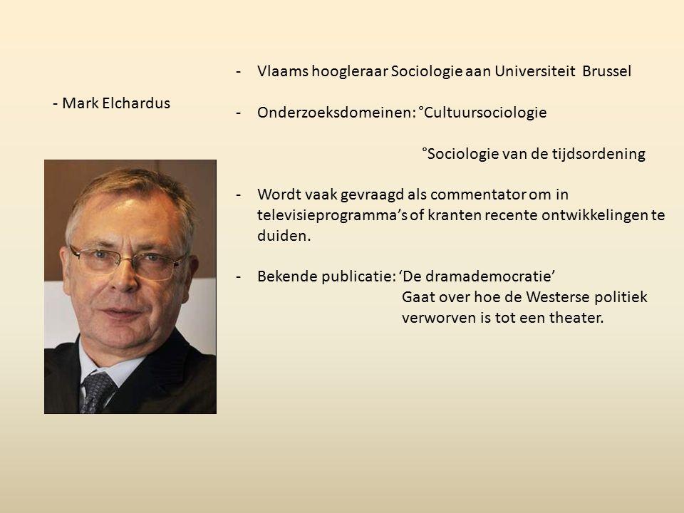 Vlaams hoogleraar Sociologie aan Universiteit Brussel