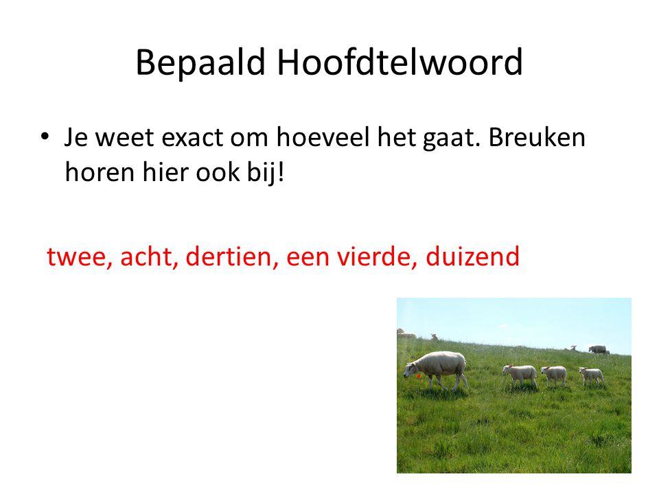 Bepaald Hoofdtelwoord