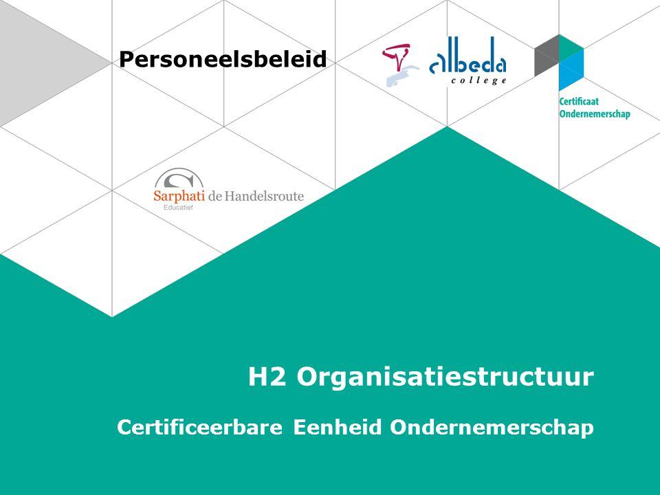 H2 Organisatiestructuur