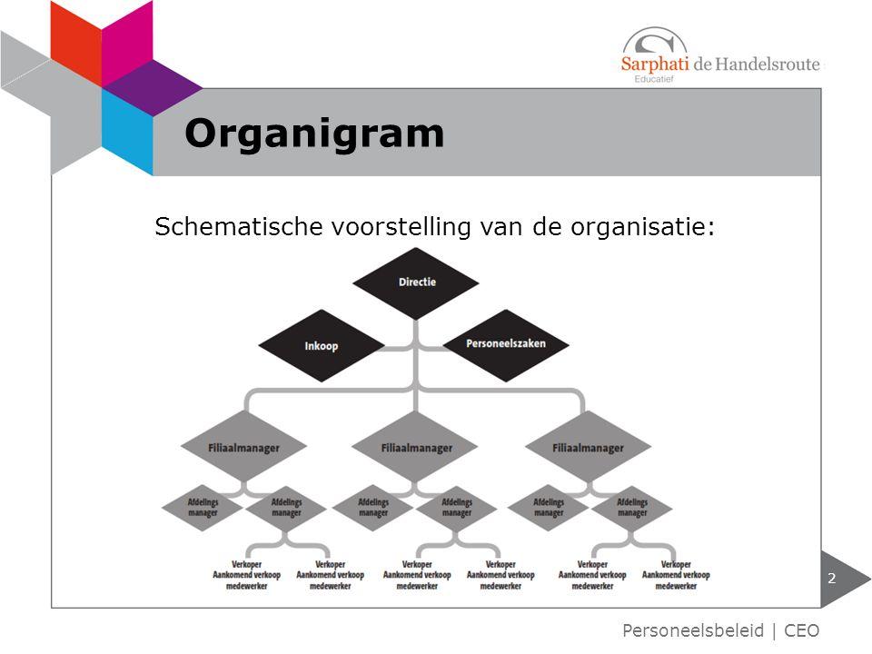 Schematische voorstelling van de organisatie:
