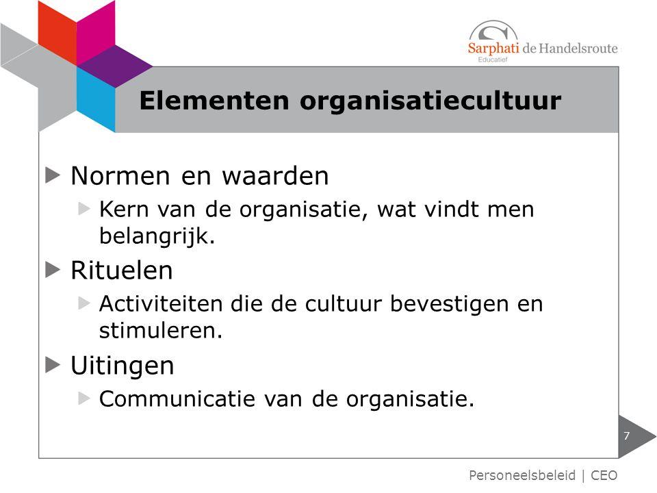 Elementen organisatiecultuur