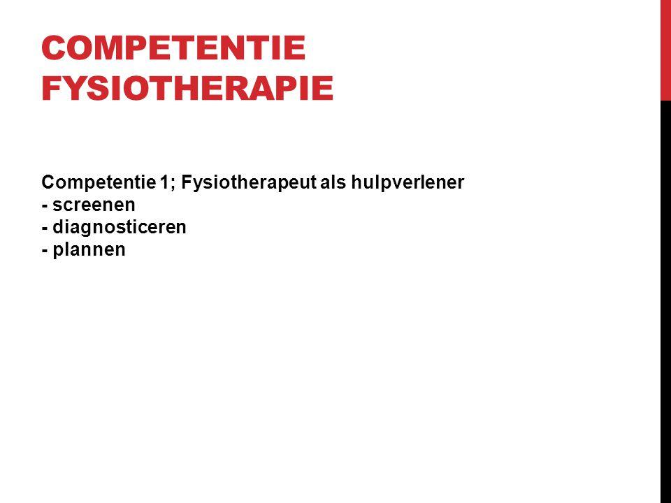 Competentie Fysiotherapie