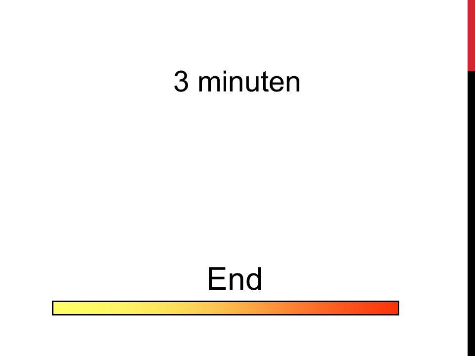3 minuten End
