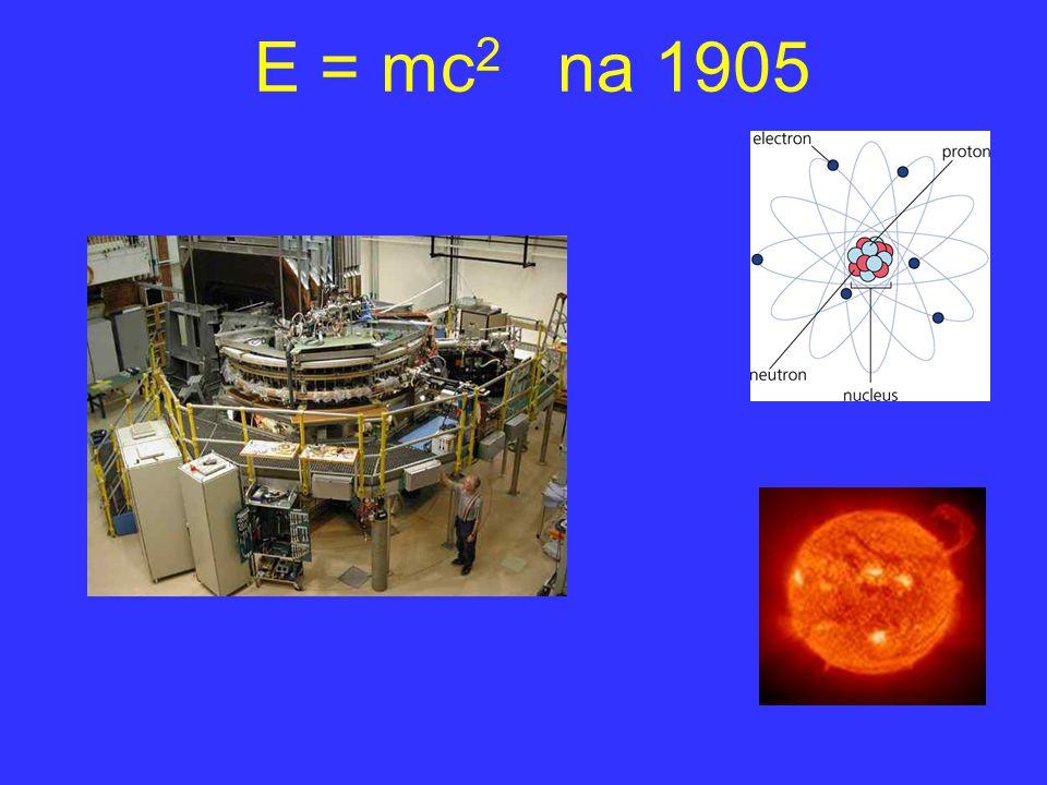 E = mc2 na 1905 Hiervoor moeten we de geschiedenis van $E=mc^2$ na 1905 volgen.