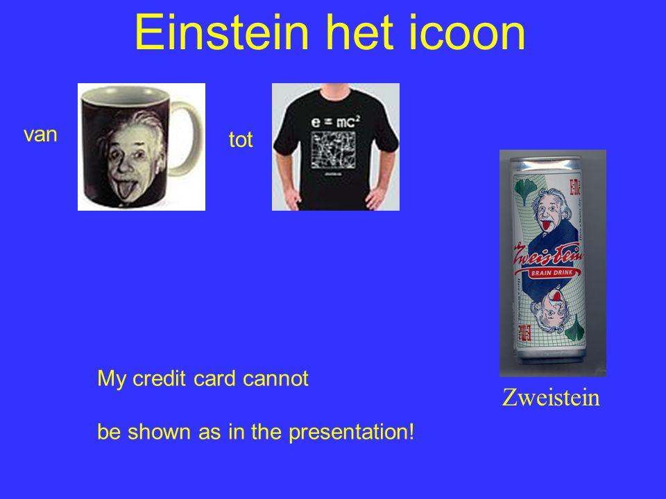 Einstein het icoon Zweistein van tot My credit card cannot