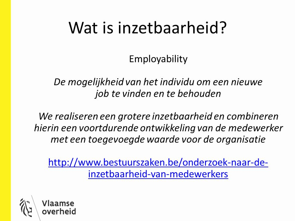 Wat is inzetbaarheid Employability