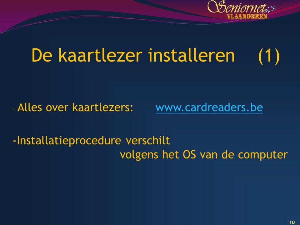 De kaartlezer installeren (1)