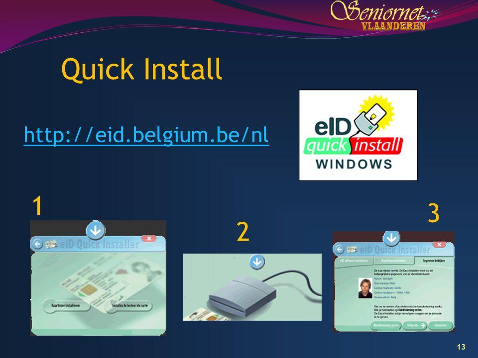 Quick Install 1 3 2 http://eid.belgium.be/nl 9/04/2017
