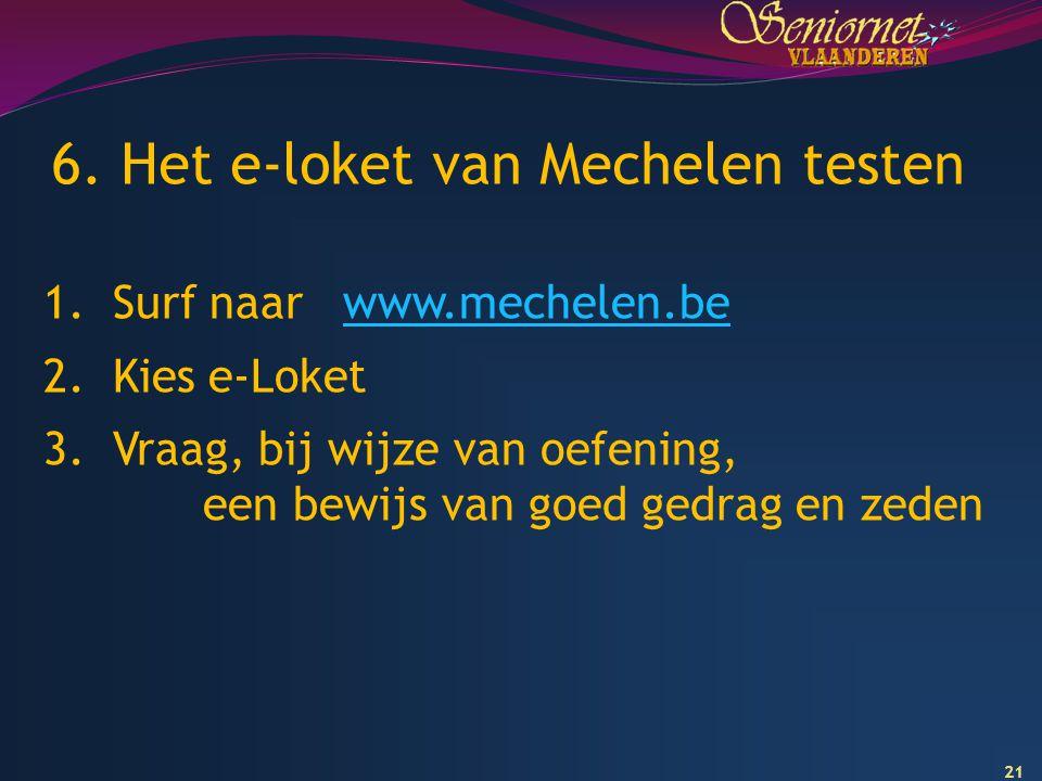 6. Het e-loket van Mechelen testen