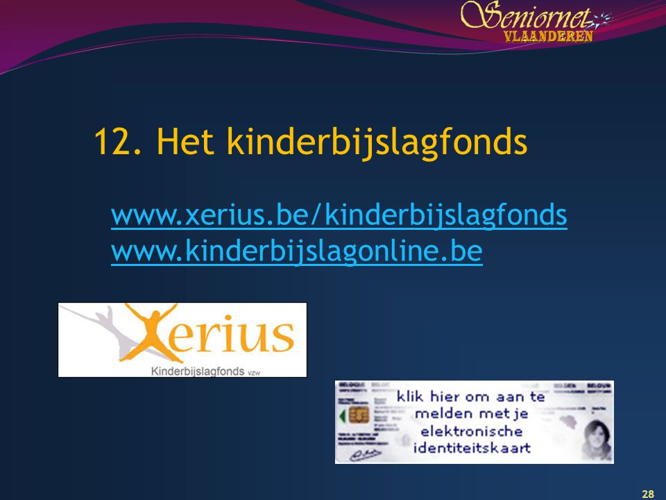 12. Het kinderbijslagfonds