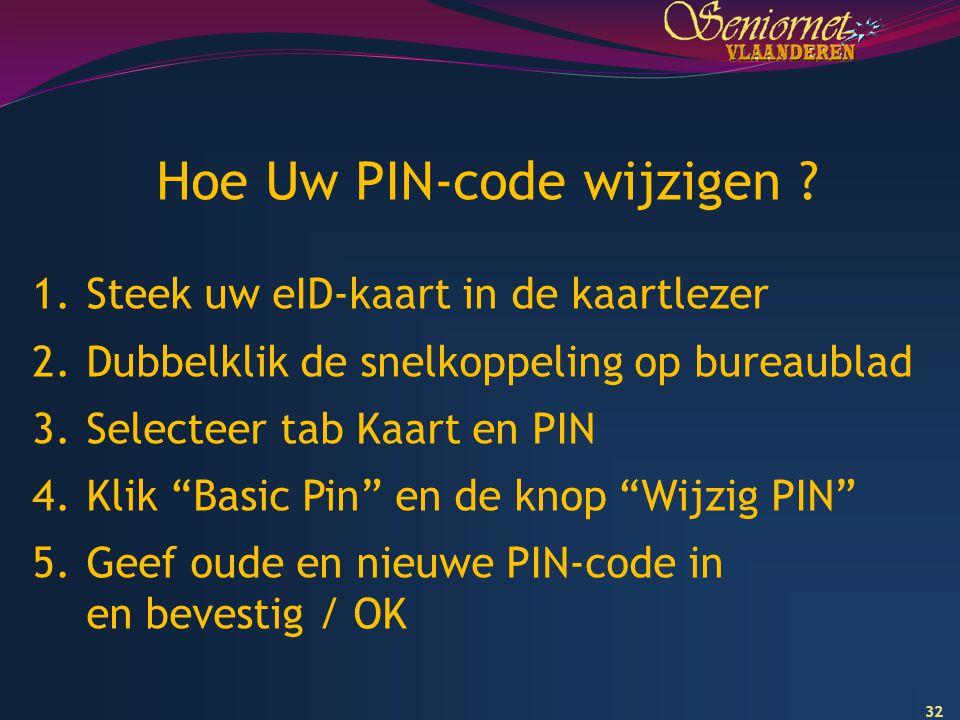 Hoe Uw PIN-code wijzigen