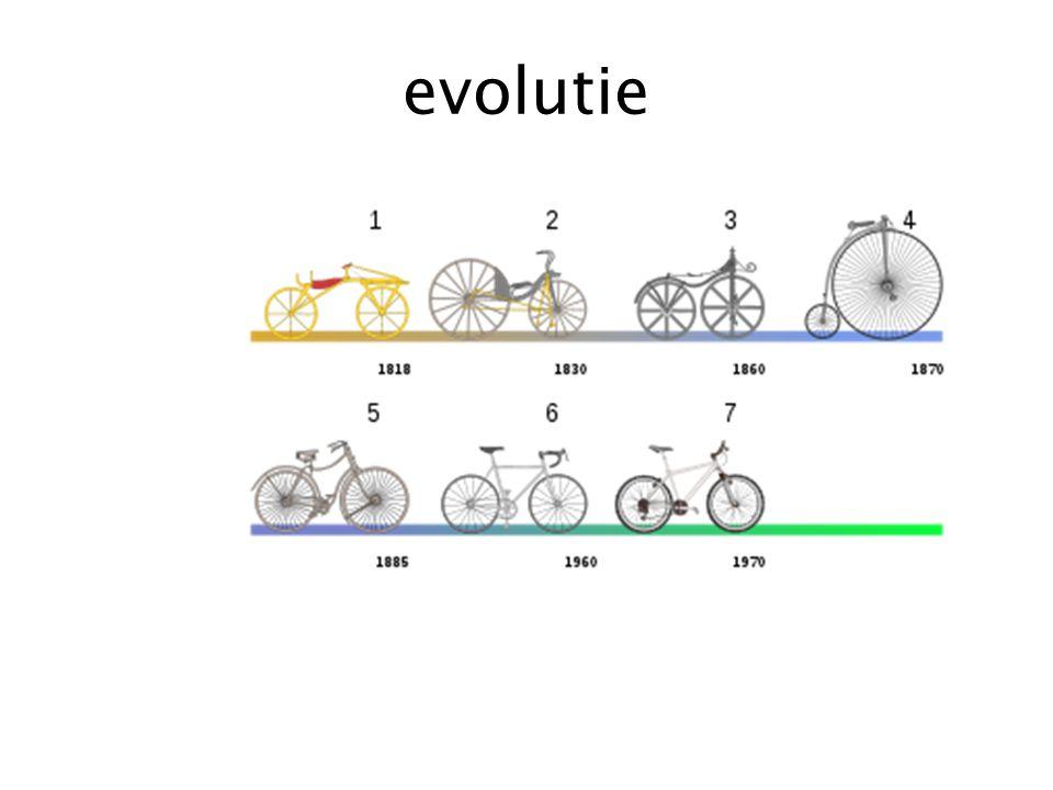 evolutie Evolutie van de fiets tot nu