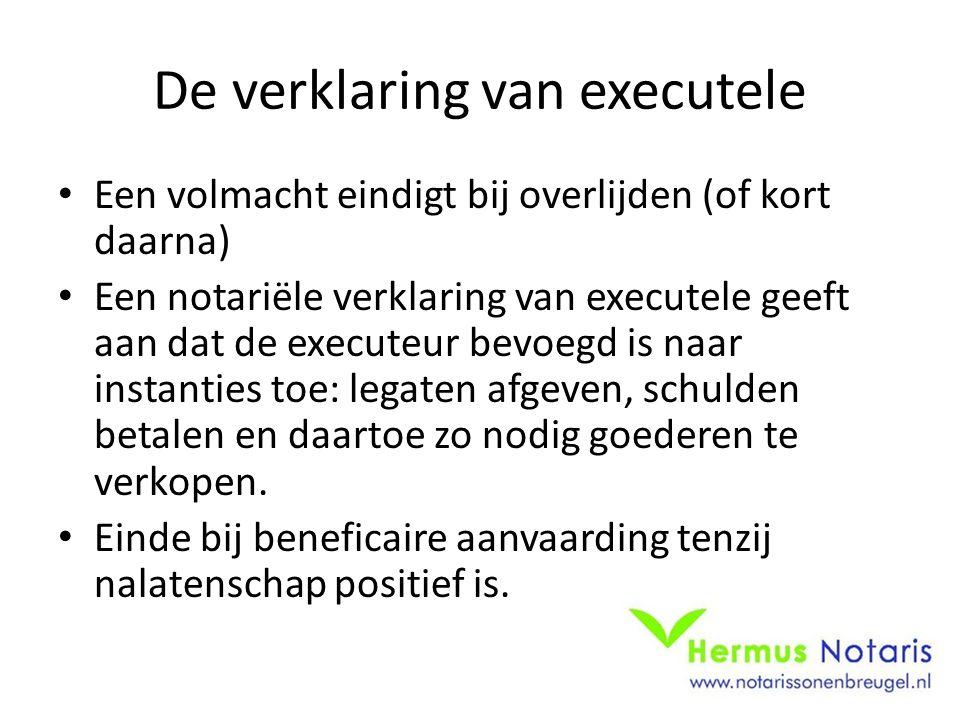 De verklaring van executele