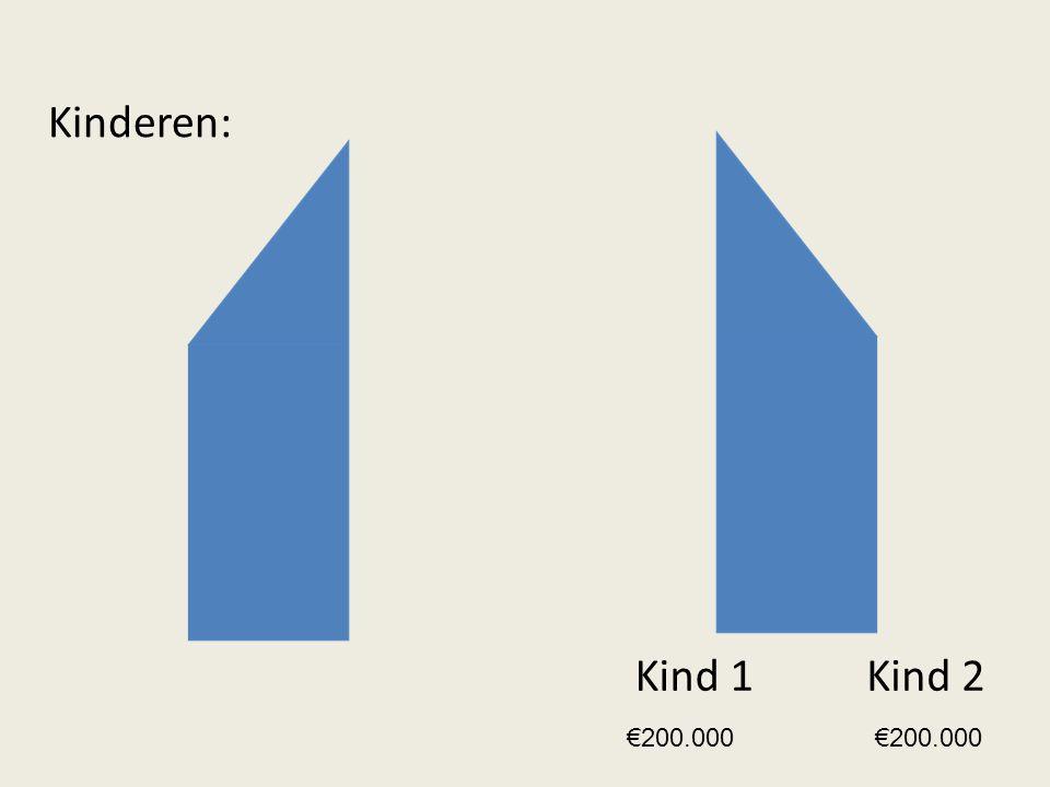 Kinderen: Kind 1 Kind 2 €200.000 €200.000