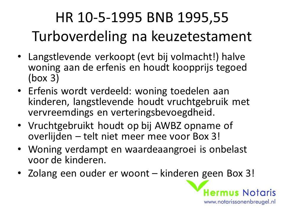 HR 10-5-1995 BNB 1995,55 Turboverdeling na keuzetestament
