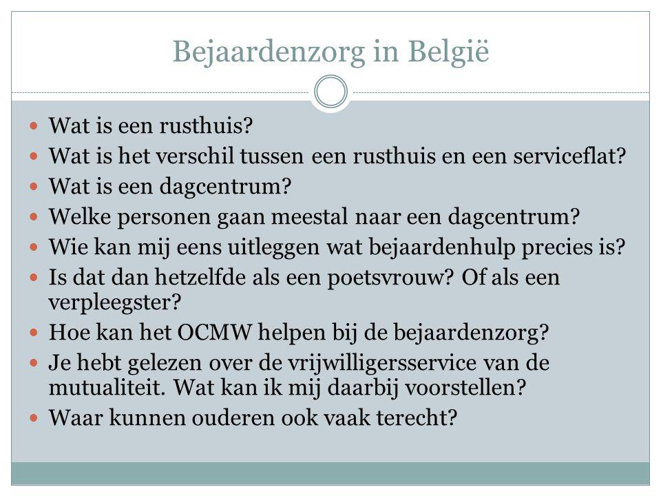 Bejaardenzorg in België