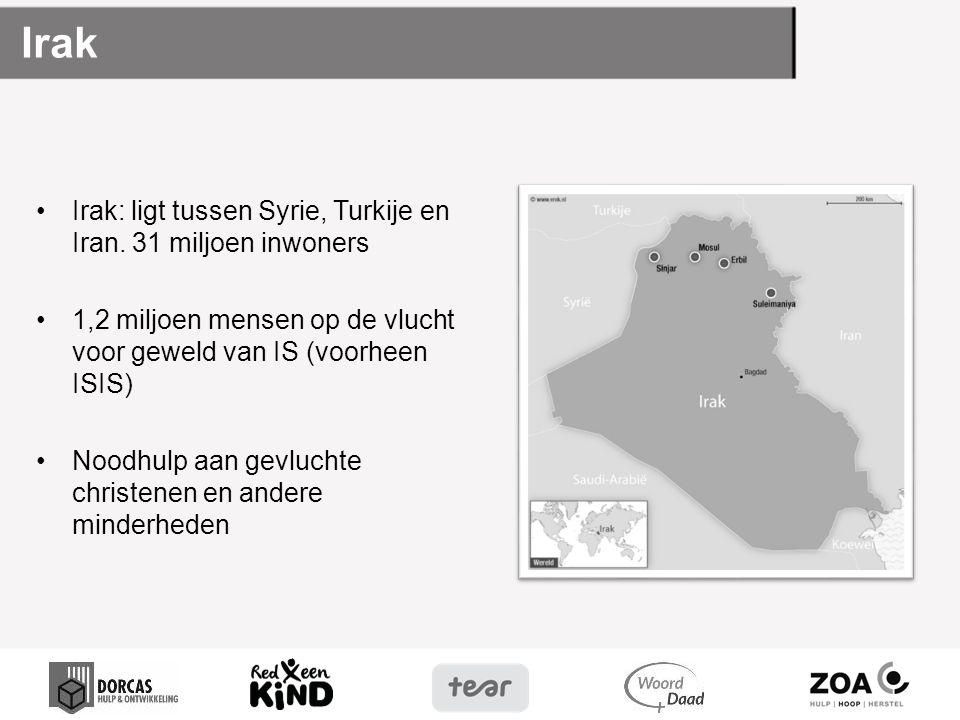 Irak Irak: ligt tussen Syrie, Turkije en Iran. 31 miljoen inwoners
