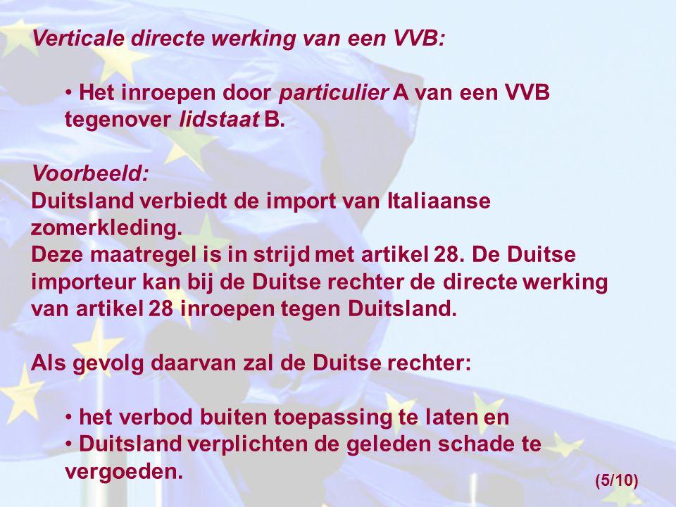 Verticale directe werking van een VVB: