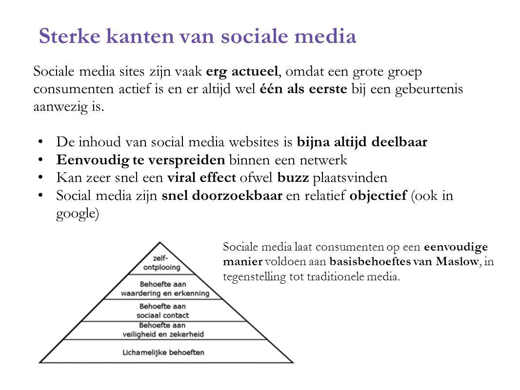 Sterke kanten van sociale media