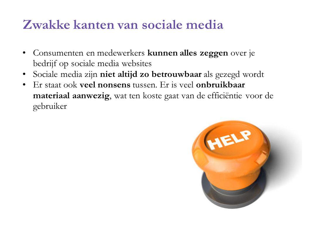 Zwakke kanten van sociale media