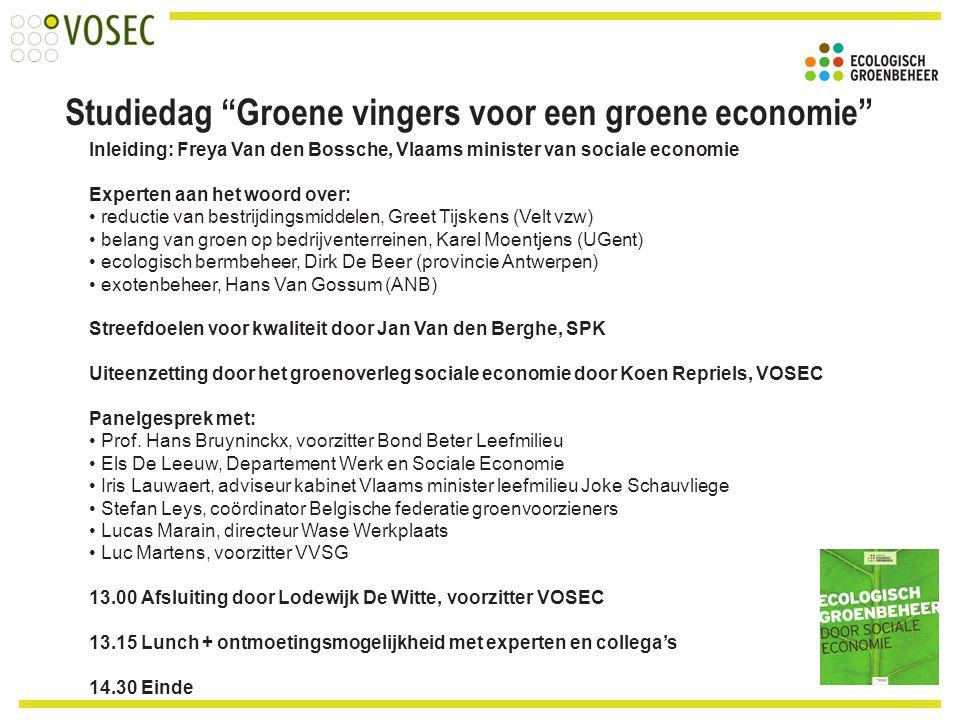 Studiedag Groene vingers voor een groene economie