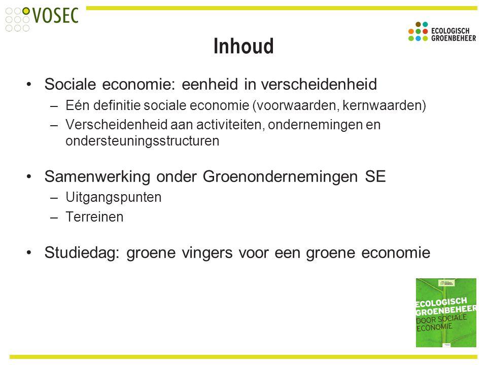 Inhoud Sociale economie: eenheid in verscheidenheid