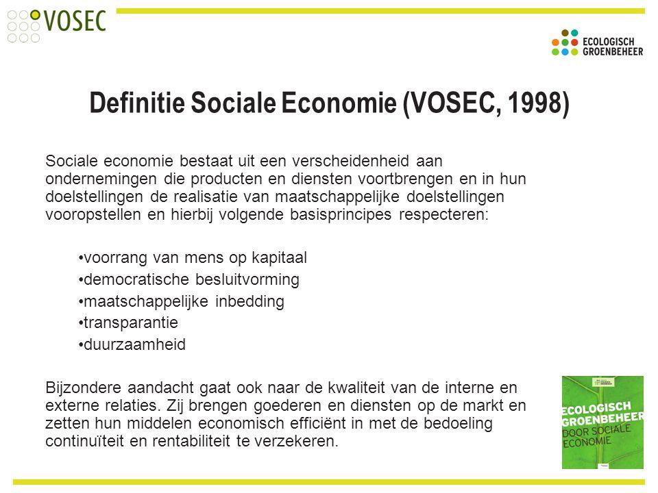 Definitie Sociale Economie (VOSEC, 1998)