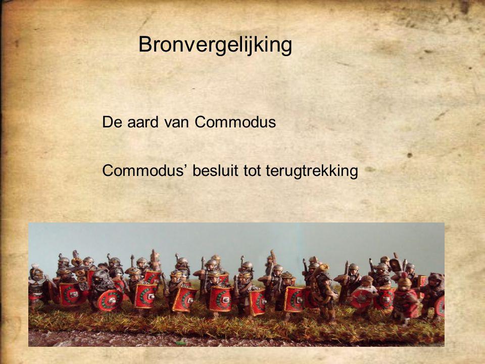 Bronvergelijking De aard van Commodus