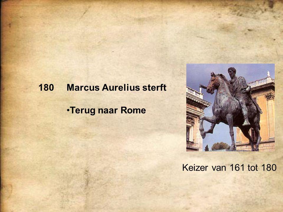 180 Marcus Aurelius sterft