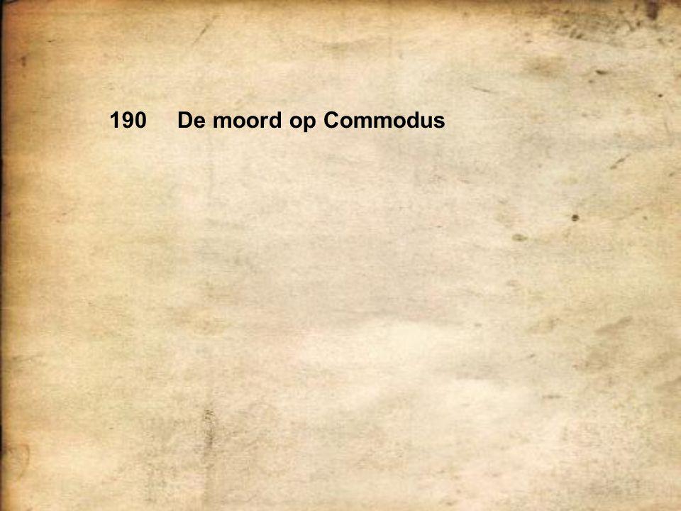 190 De moord op Commodus