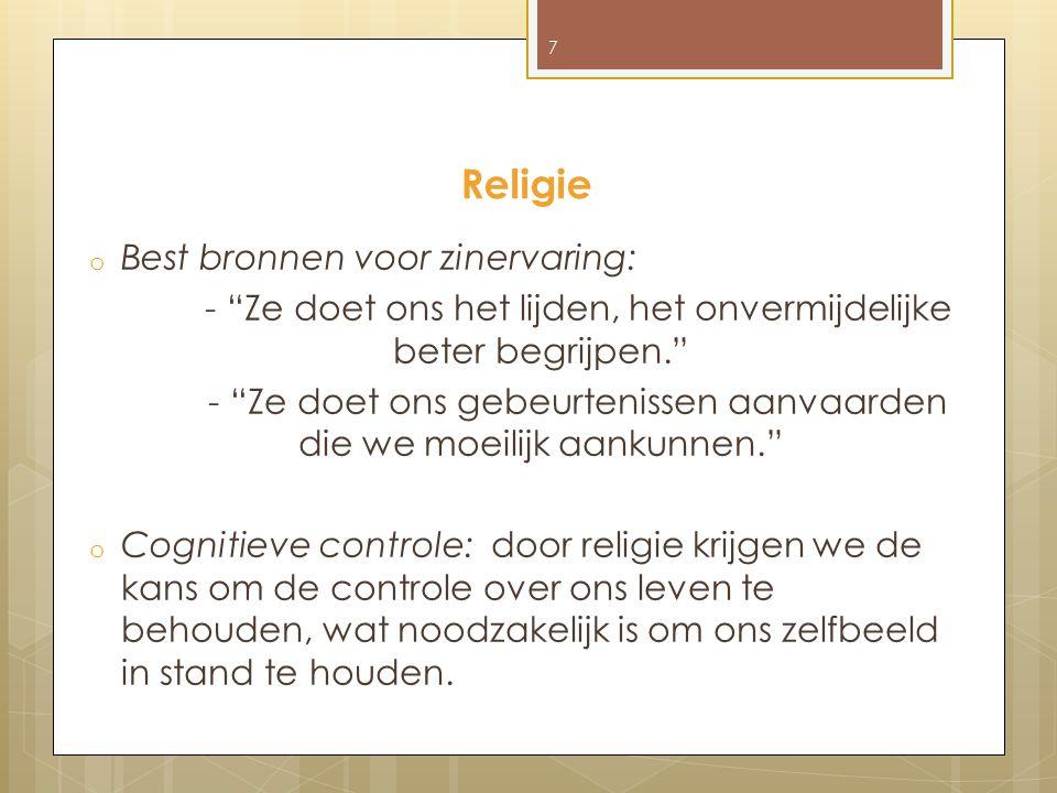 Religie Best bronnen voor zinervaring: