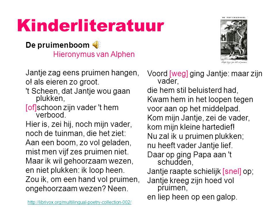 Kinderliteratuur De pruimenboom Hieronymus van Alphen